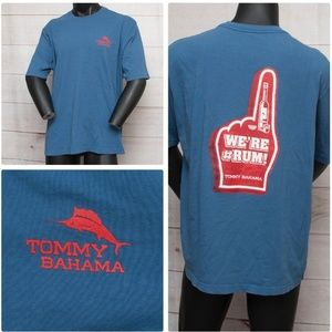 Tommy Bahama Relax Fit We're #Rum Blue L T-shirt